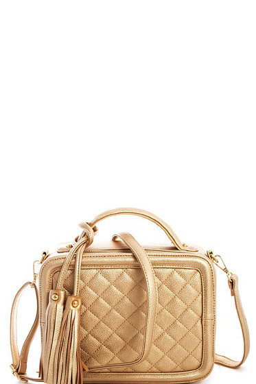 Marni Gold Quilted Shoulder Bag