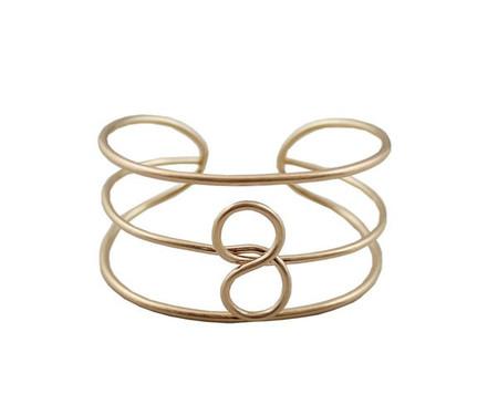 Infinity Gold Finish Buckle Statement Cuff Bracelet