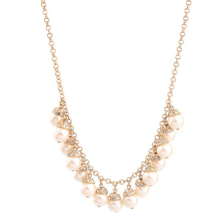 Mateo Golden Elegant Pearl Bead Necklace