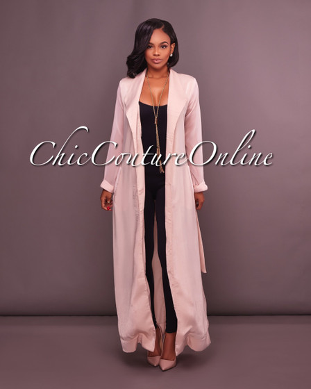 Seville Blush Belted LUXE Duster