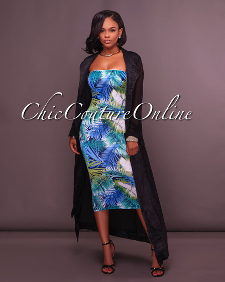 Seville Black Belted LUXE Long Duster