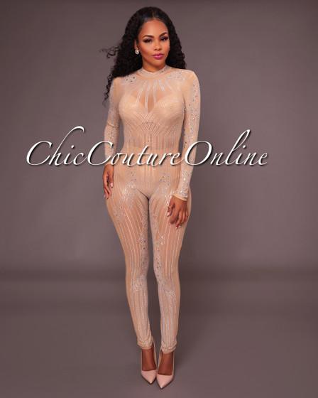 Shella Nude Illusion Jumpsuit