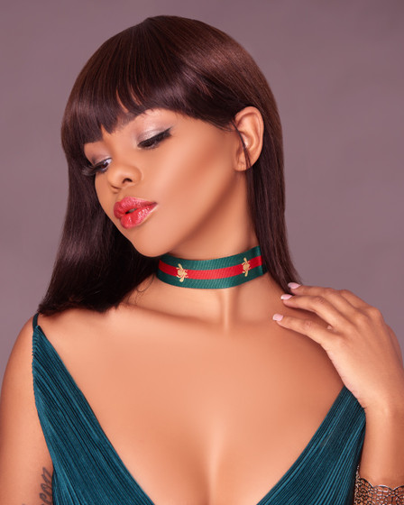 Sza Green Red Embroidery Choker Necklace