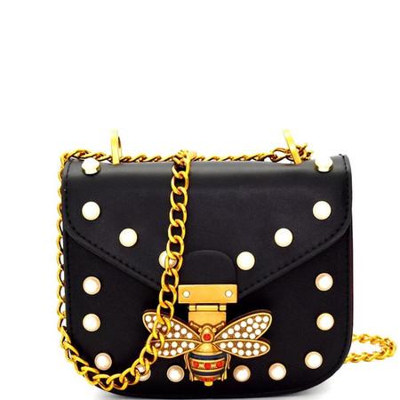 Magda Black Embellished Clutch Bag