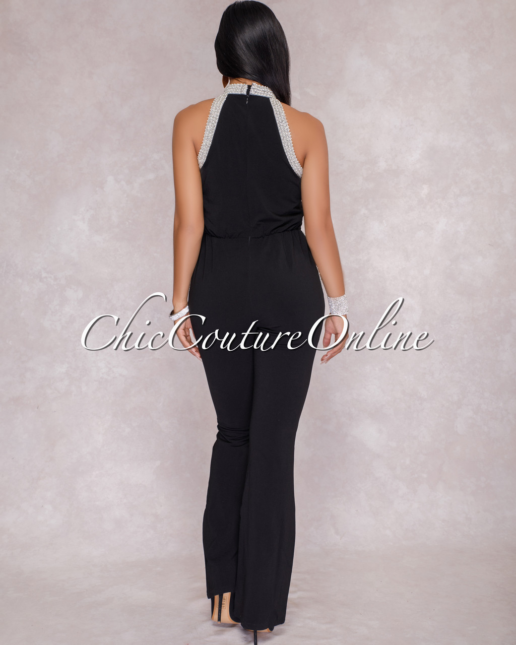 1d1f13ee6a7e Fonda Black Pearl Embellished Jumpsuit. Price   80.00. Image 1. Larger    More Photos