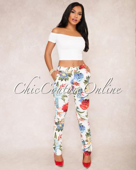 Deena Floral Print Pants