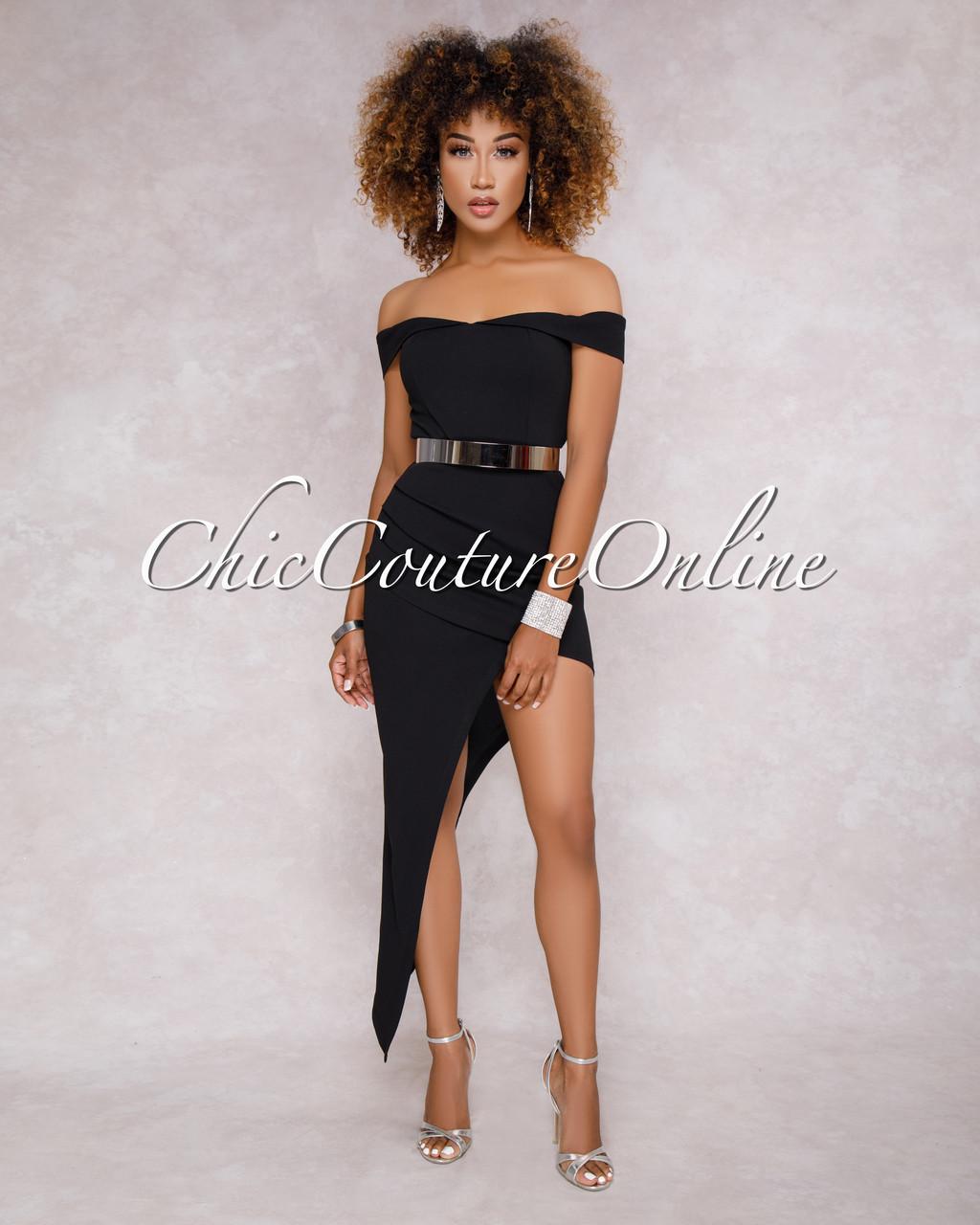 Black Asymmetrical Dress