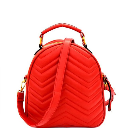 Marra Red Chevron Backpack Bag
