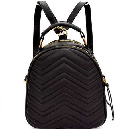 Marra Black Chevron Backpack Bag