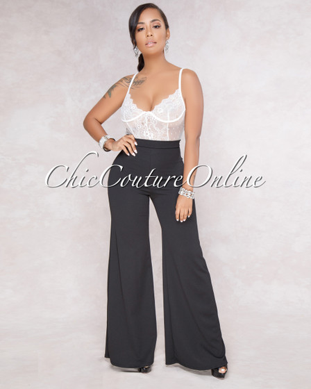 Yanny Black Wide Legs Pants