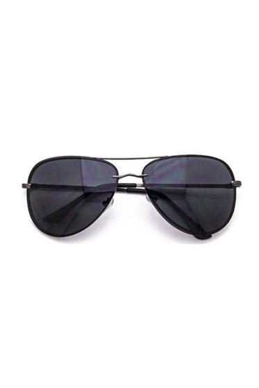Avy Gunmetal Black Aviator Sunglasses