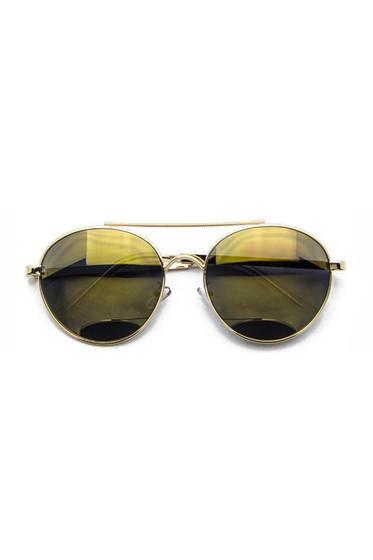 Livvy Green Mirrored Aviator Sunglasses