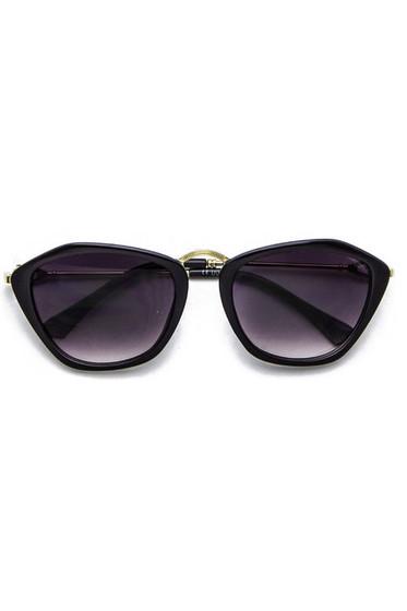 Catty Black Gradient Lens Cateye Sunglasses