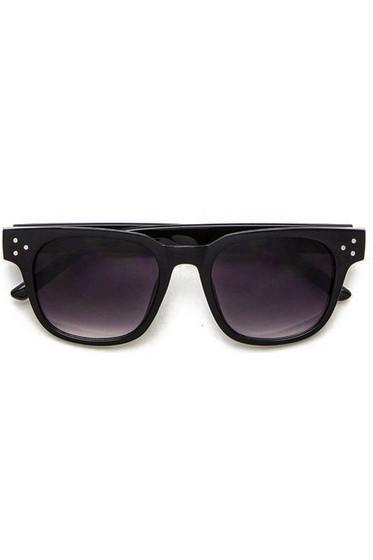 Rosy Black Wayfarer Studded Sunglasses