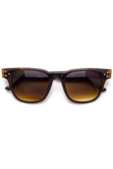 Rosy Brown Wayfarer Studded Sunglasses