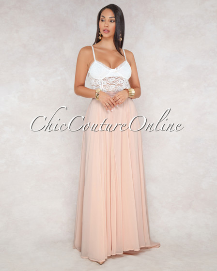 Kiante Soft Blush Luxe Maxi Skirt