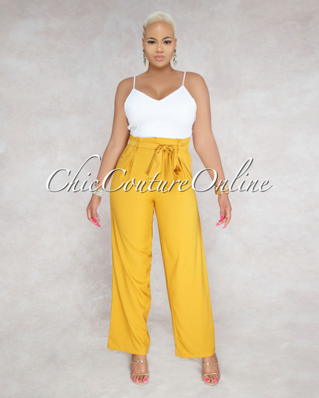 Molina Mustard Yellow Two Tone Jumpsuit