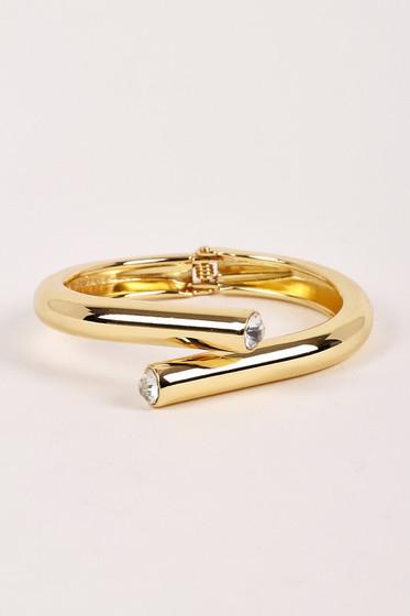 Josh Open Hinge Loop Crystal Bracelet