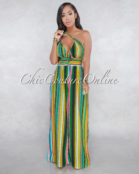 Fiesta Multi Stripes Multi Way Jumpsuit