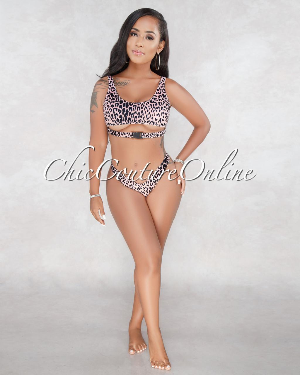 f2550f921a Nissa Black Blush Leopard Print Bikini Set. Price   50.00. Image 1. Larger    More Photos