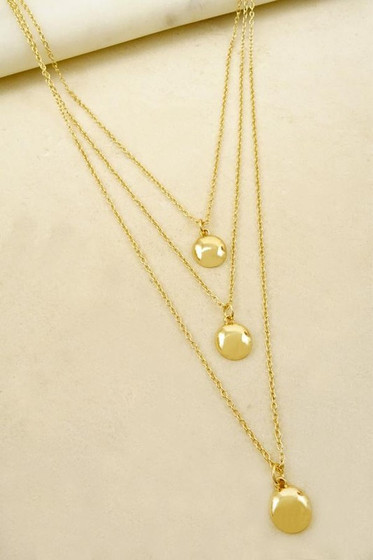 Tia Golden Delicate Layered Necklace