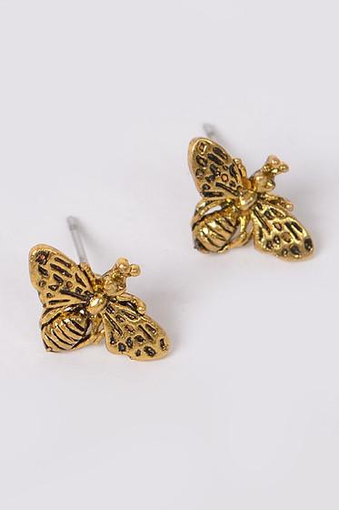 Bee Golden Studs Earrings