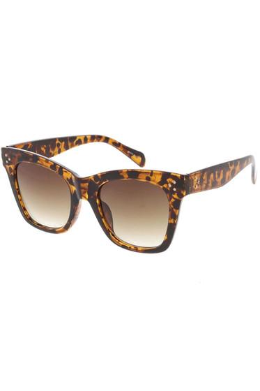 Jessa Tortoise Frame Gradient Lens Sunglasses