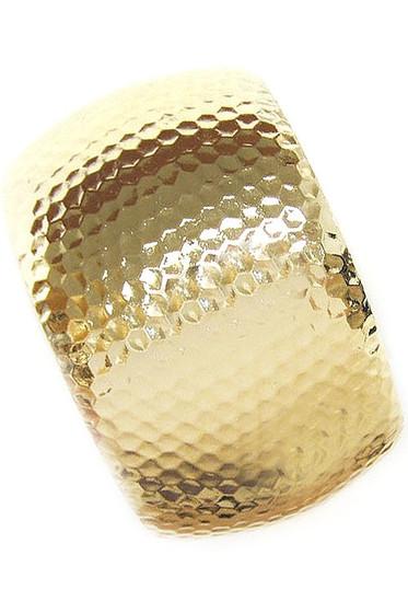 Lorla Golden Hammered Cuff Bracelet