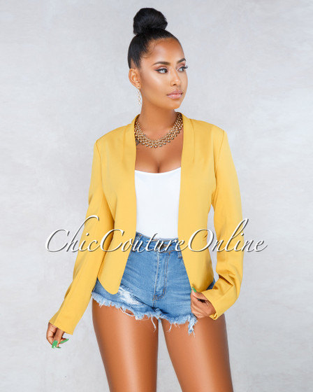 Margaret Mustard Yellow Blazer
