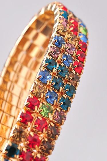 Milana Multi Color Wrist Stretchy Pave Bracelet