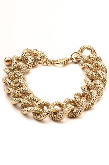 Krys Golden Texture Curb Chain Bracelet