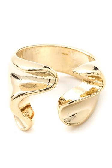 Hayden Warped Metal Open Band Ring