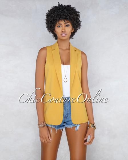 Avara Mustard Trench Vest