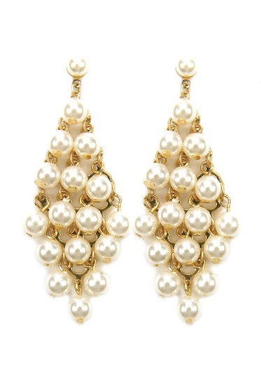 Marsha Pearl Statement Drop Dangle Earrings