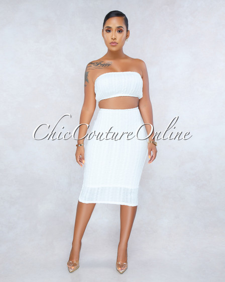 Cayenne Off-White Cable Knit Two Piece Set