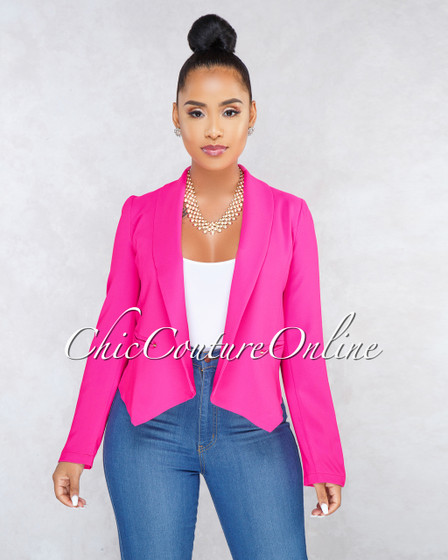 Pauline Hot Pink Long Sleeves Jacket