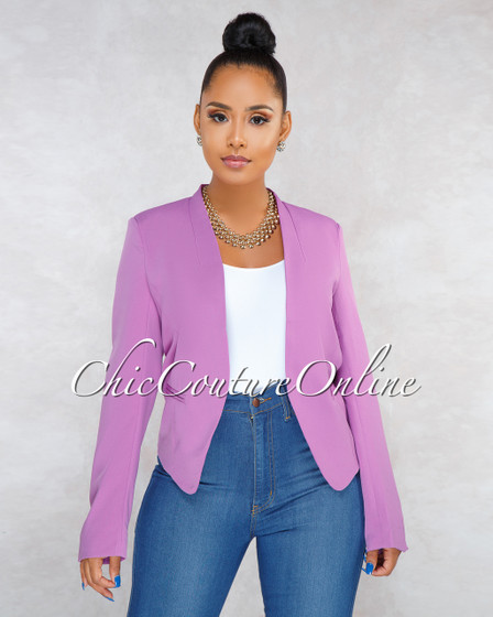 Margaret Purple Blazer