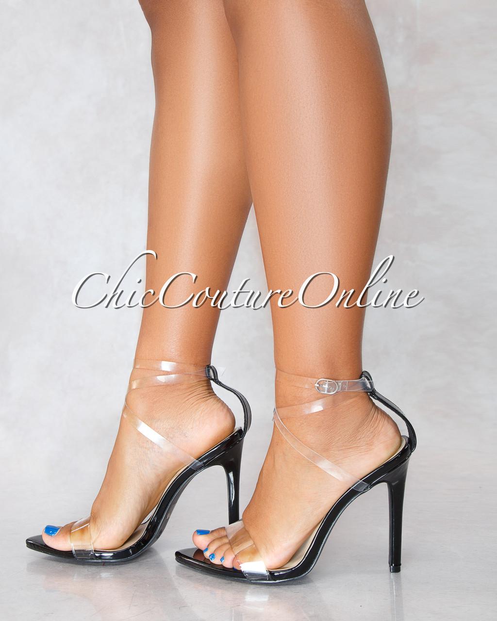 05544ec6d0 ... Clear Strap High Heels. Image 1. Loading zoom