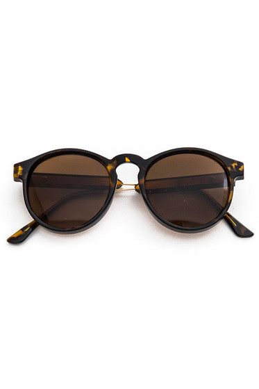 Rolly Oval Tortoise Sunglasses