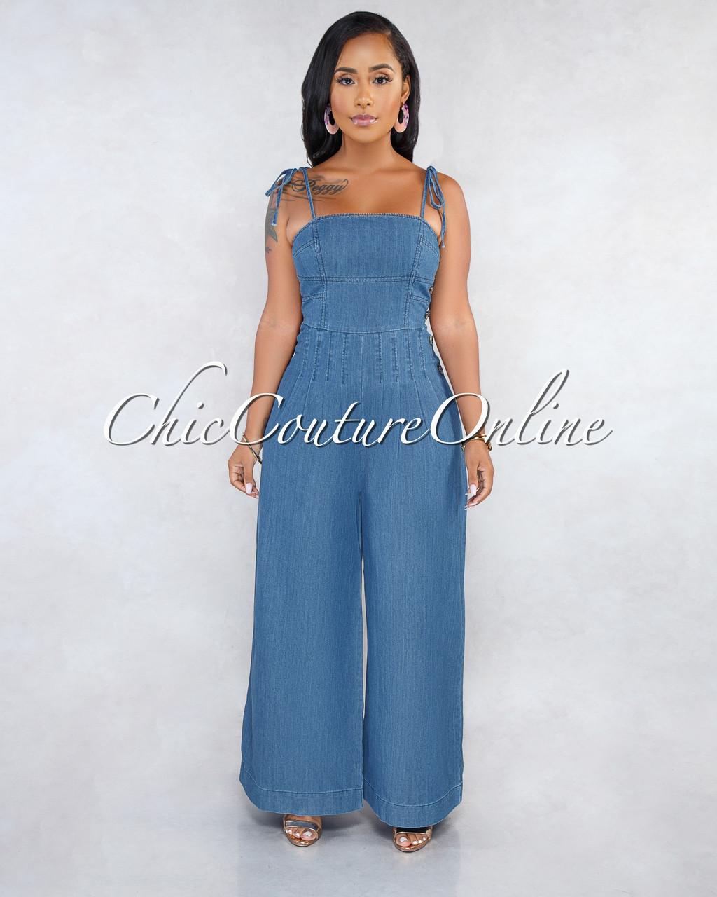 793d3a76eb06 Chay Blue Denim Pleated Jumpsuit