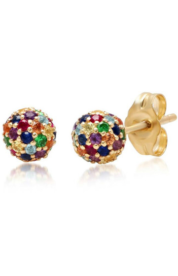 Deedee Multi Color Stones Studs Earrings