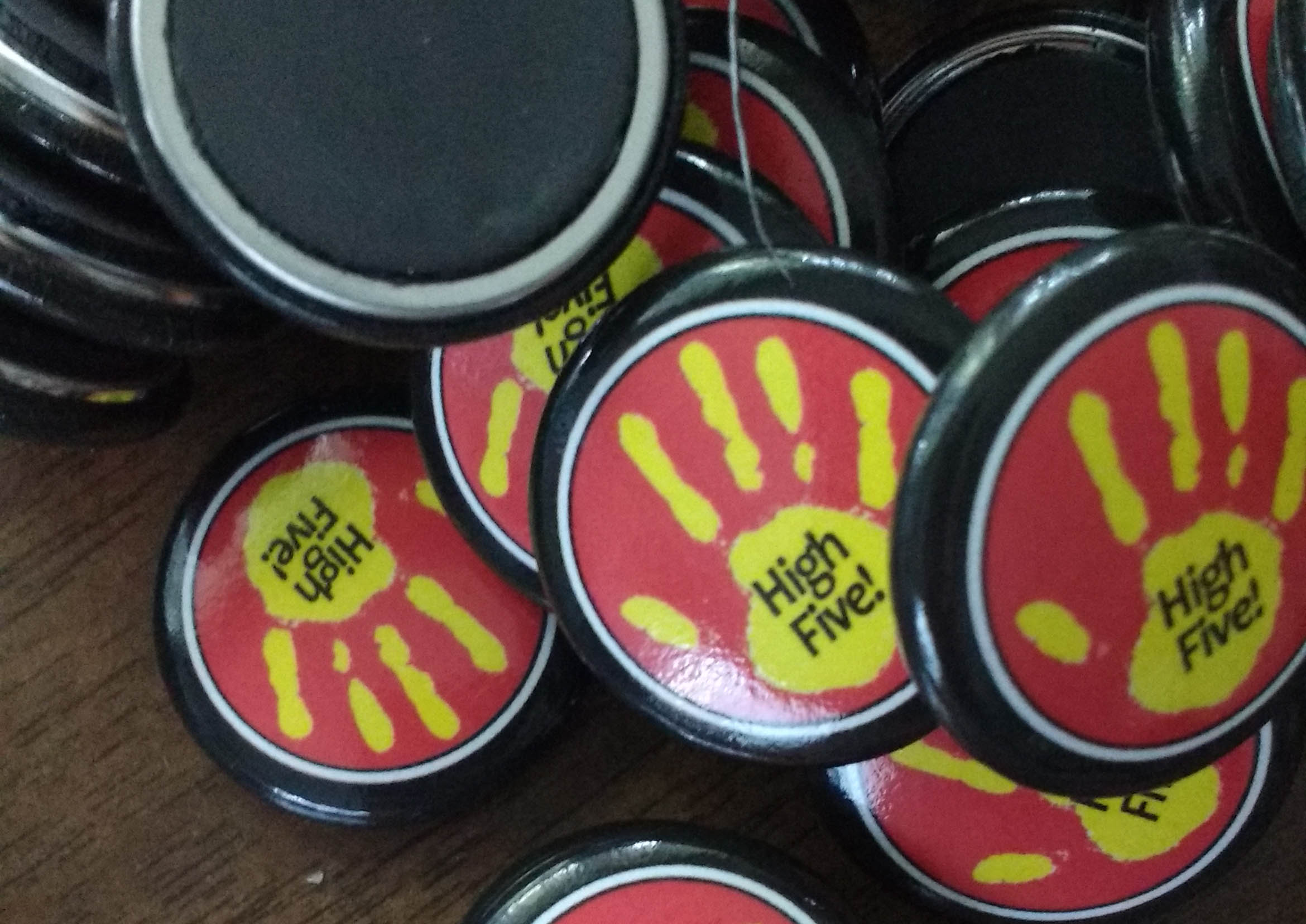 High Five Button Magnets