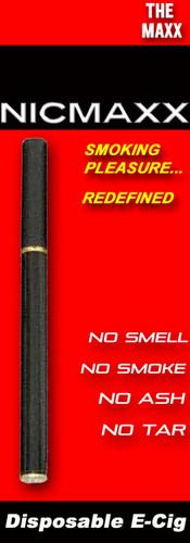 "NICMAXX ""The MAXX"" Disposable Electronic Cigarette-*PG"