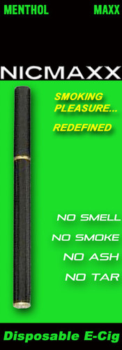 NICMAXX Menthol MAXX Disposable Menthol Electronic Cigarette - *PG