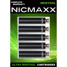 NICMAXX Menthol Ultra Five Pack Cartridges in Green Packaging