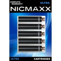 Five Pack of NICMAXX Ultra Full-flavored Rechargeable Electronic Cigarette Cartridges in blue packaging