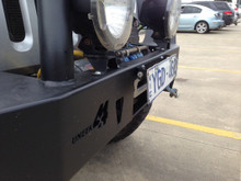 number plate flip up bracket