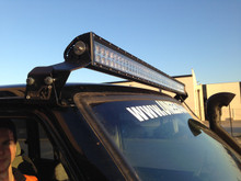 LED light bar mounts on a GQ patrol