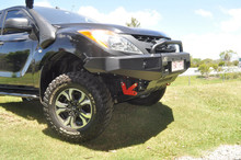 BT50 crawler bull bar in all black with optional top hoop
