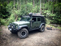 Fully loaded Jeep roof rack by Uneek 4x4